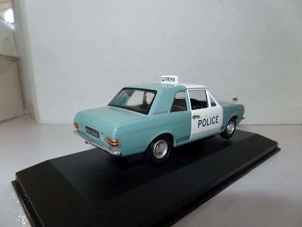 Lledo Corgi Vanguards VA04116 1/43 Scale Ford  Cortina MkII 1300 Manchester Police Demo